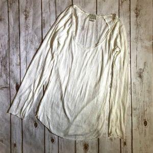 Intimately Free People Tissue Thin Ribbed Shirt